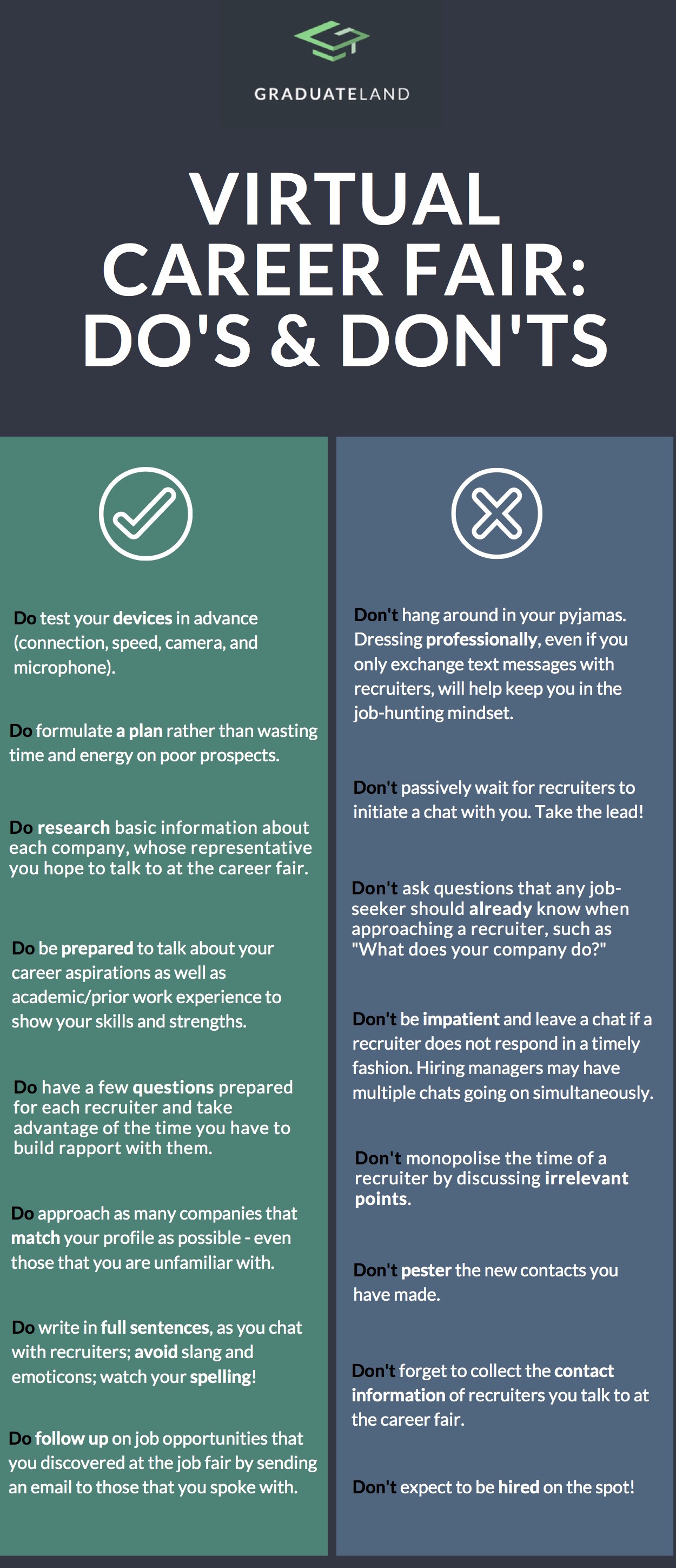 Infographic Virtual career fair